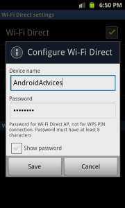 Wi-Fi Direct Configure