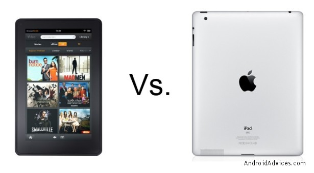 kindle fire vs ipad 2