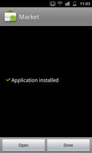 Application Installed