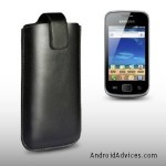 BLACK PU LEATHER CASE