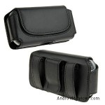 Black Horizontal Leather Pouch