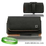 Black Leather Case Holster with Optional Belt Clip