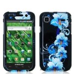 Blue Flowers Design Crystal Hard Skin Case Cover