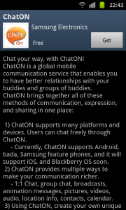 Chat On in Samsung Apps