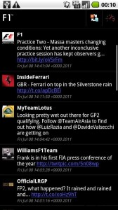 F1 Android App