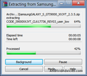 File Extraction process XXJVT