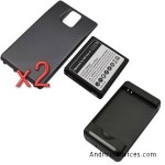 GTMax 2x Extended 3500mAh Battery with Black Cover