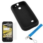 GTMax Black Skin Rubber Soft Silicone Case