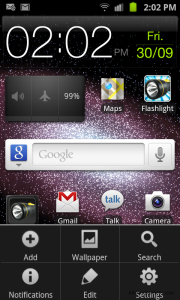 Galaxy S II menu