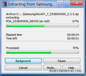 Galaxy Y File Extraction