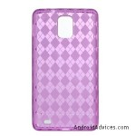 HOT PINK TPU Gel Soft Argyle Design Skin Cover Case