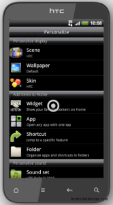 HTC Incredible S Widget