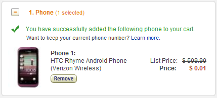 HTC Rhyme Android Phone
