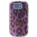 Hard Snap-on Shield BLACK With PURPLE LEOPARD Design