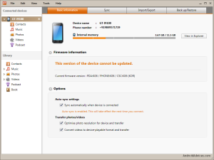 Kies Galaxy S2 Welcome Screen