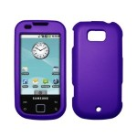 Purple Rubberized Hard Cover Crystal Case