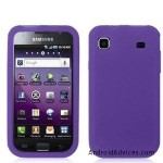 Purple Silicone Rubber Gel Soft Skin Case Cover