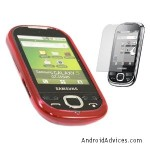 RED & CLEAR TRANSPARENT Hard Soft Case Cover Skin