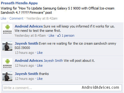 Upgrade Android Ice Cream Sandwich