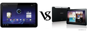 Motorola XOOM vs Galaxy Tab