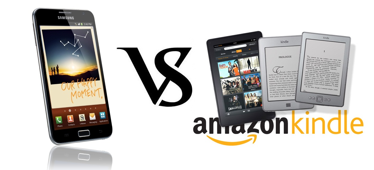 Amazon Kindle Fire Vs Galaxy Note SmartPhone Tablet ...
