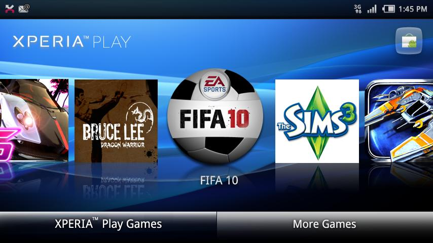 sony ericssion xperia play game launcher