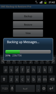 BACKING UP SMS
