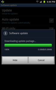Downloading Software Update Note