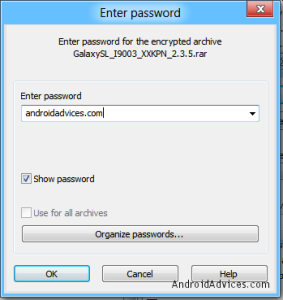 Galaxy SL I9003 Enter Password XXKPN
