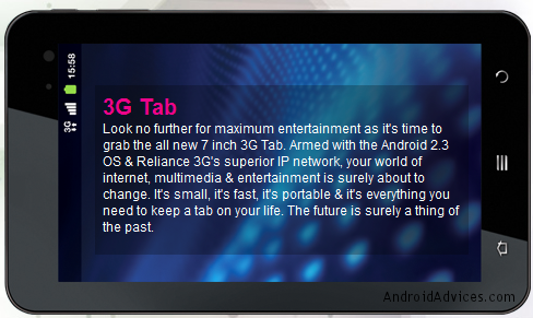 Reliance 3G Tab Image