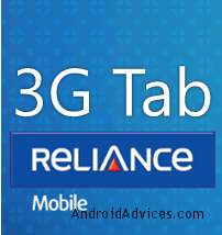 Reliance 3G Tab Logo