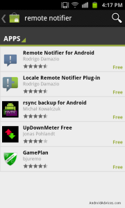 Remote notifier for Android