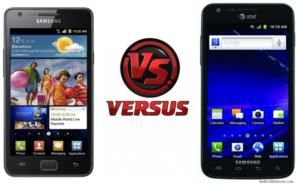 Samsung Galaxy II vs Skyrocket