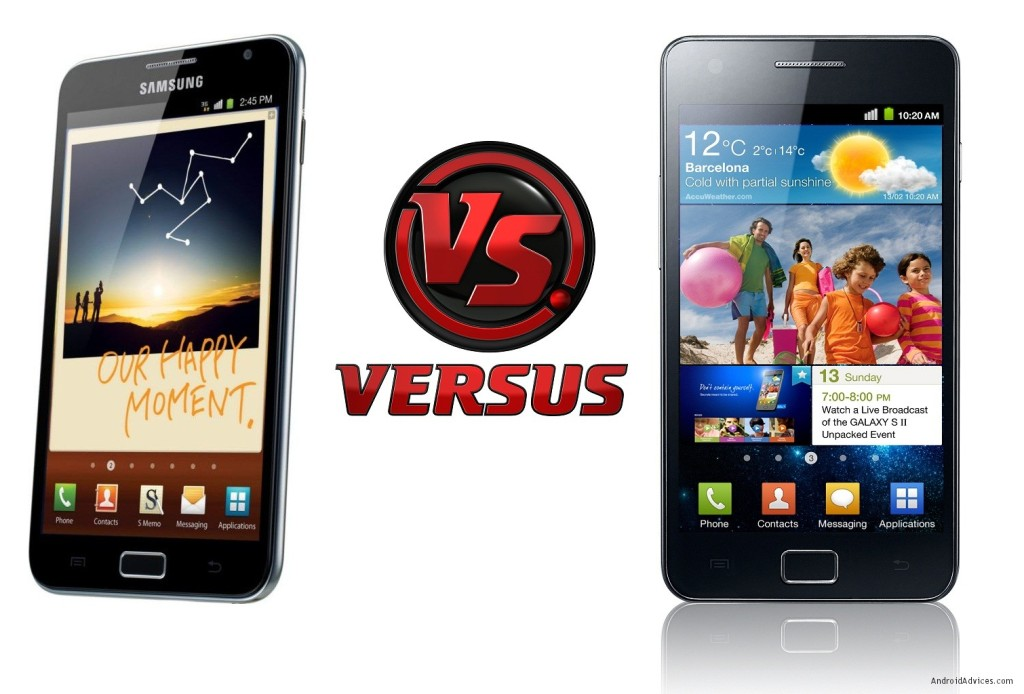 Samsung Galaxy Note vs Galaxy S II