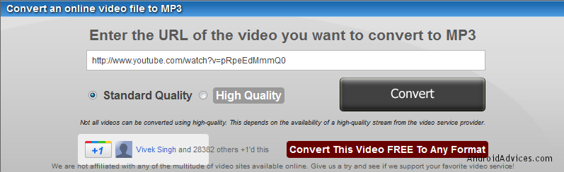 YouTube as Mp3