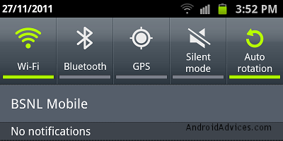 samsung galaxy note notification panel