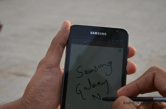 samsung galaxy note writing
