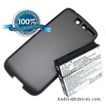 2400mAh Li-ion Extended Battery with back cover