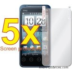 5x HTC EVO SHIFT 4G Premium Clear LCD Screen Protector