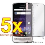 5x MetroPCS Premium Clear LCD Screen Protector Shield Cover