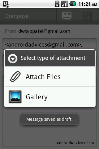 Attach files in Gmail