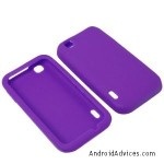 BW Soft Sleeve Gel Cover Skin Case- Purple