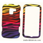 Color Zebra Design Rubberized Hard Case Cover