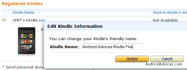 Kindle Name