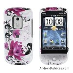 New Art Flower Purple Snap on Cell Phone Case