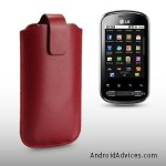 RED PU LEATHER CASE BY CELLAPOD CASES