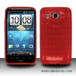 RED TPU Crystal Check Design Gel Skin Cover Case
