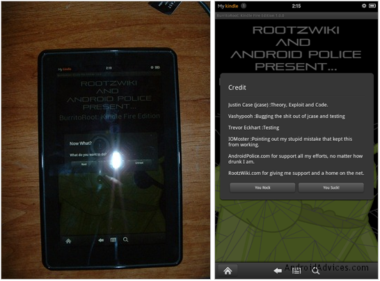 Rootzwiki and Android central root kindle