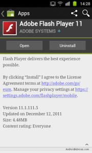 FLASH PLAYER 11.1 1