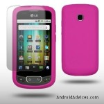SOFT SILICONE SKIN CASE hot pink